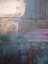 Acrylic and mixed media on panel (60cm x 22cm)